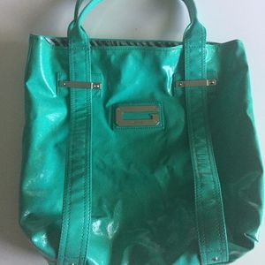 Large Guess Tote Bag Green